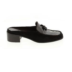 Stuart Weitzman Mule Leather Chunky Heel Loafer